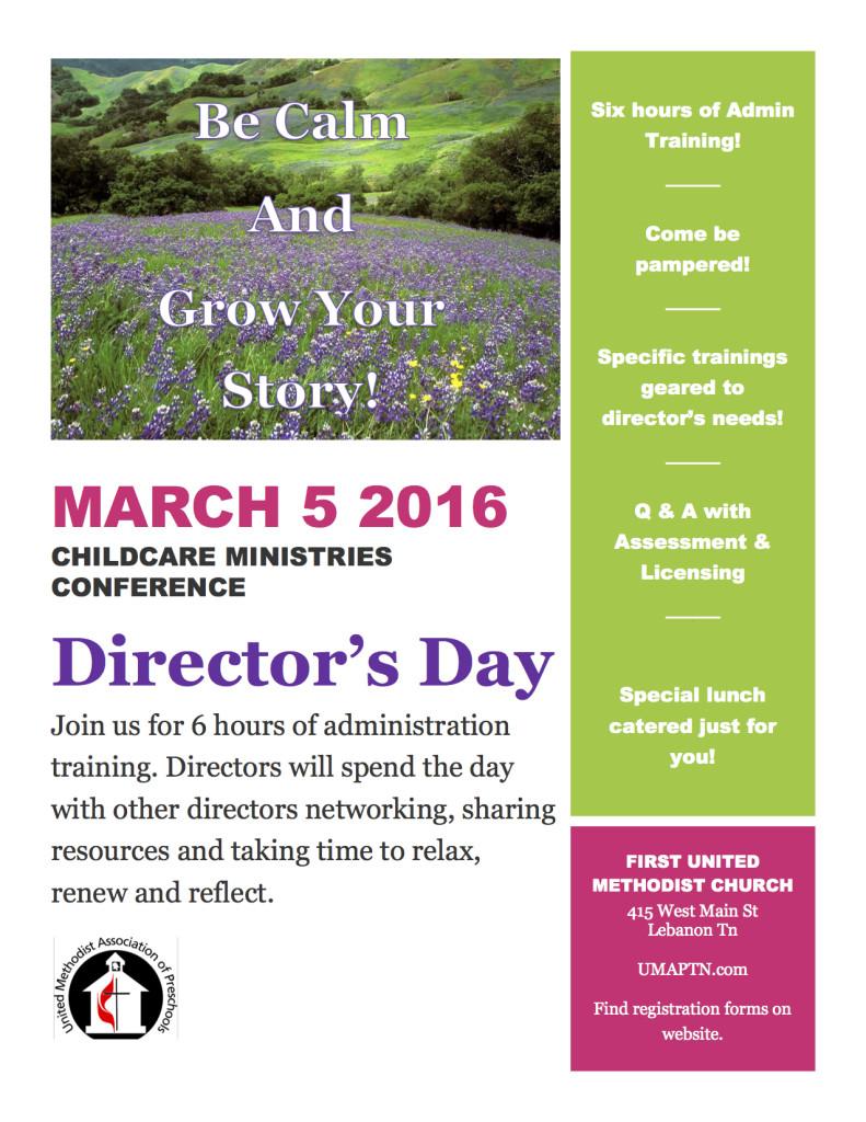 Directors Day - United Methodist Association of Preschools